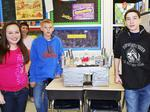 GCMS seventh graders build  castles for social studies project