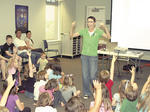 Woody, the Kentucky Wiener Dog, visits Grant County Public Library