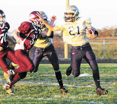 """<div class=""""source"""">Mark Verbeck</div><div class=""""image-desc"""">Dustin Haar keeps a defender at bay as he works his way down the field.</div><div class=""""buy-pic""""><a href=""""/photo_select/5125"""">Buy this photo</a></div>"""