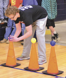 """<div class=""""source"""">Mark Verbeck, Photographer</div><div class=""""image-desc"""">GCMS student Matthew Ritter does the obstacle course at a recent Rock The Test Assembly held at the middle school.  Photo by Mark Verbeck </div><div class=""""buy-pic""""><a href=""""/photo_select/21065"""">Buy this photo</a></div>"""