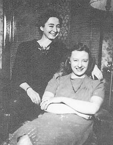 """<div class=""""source"""">photo submitted</div><div class=""""image-desc"""">Agnes Beach as a single girl stands by her roommate, Gladys Martin Keith</div><div class=""""buy-pic""""></div>"""