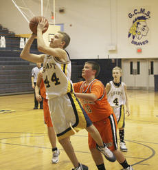 "<div class=""source"">Matt Birkholtz</div><div class=""image-desc"">Braves Logan Horn (44) lays it in for two points against Williamstown Dec. 11 at Grant County Middle School. The Braves fended off the Demons 67-17.</div><div class=""buy-pic""></div>"