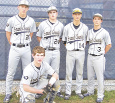 "<div class=""source"">Photo Submitted</div><div class=""image-desc"">The Grant County Braves baseball team celebrated senior night, March 22 against Carroll County. Seniors include from left to right, Aaron Goe, Kyle Wallace, Jordan Cummins, Roman Jaconnette and a kneeling Brandon Holder. The Braves won the game 11-1 in five innings.</div><div class=""buy-pic""></div>"
