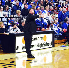 """<div class=""""source""""></div><div class=""""image-desc"""">Jim Hicks, coach of the Grant County Braves, yells a play across the floor during a recent game. Photo by Jerry Morris</div><div class=""""buy-pic""""><a href=""""/photo_select/17187"""">Buy this photo</a></div>"""