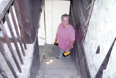 """<div class=""""source"""">Jamie Baker-Nantz</div><div class=""""image-desc"""">Edna Cummins has led a troop of volunteers for more than five years to save and preserve Sherman Tavern on U.S. 25. The tavern dates back to 1812.</div><div class=""""buy-pic""""><a href=""""/photo_select/12193"""">Buy this photo</a></div>"""