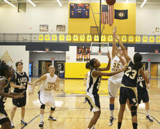 "<div class=""source"">Matt Birkholtz</div><div class=""image-desc"">Lady Braves senior forward Brittany Hearn goes up for a shot, while Billie Hearn anticipates getting the rebound against Lloyd Memorial Jan. 29.</div><div class=""buy-pic""><a href=""/photo_select/9012"">Buy this photo</a></div>"