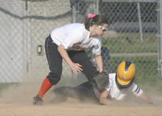 """<div class=""""source"""">Matt Birkholtz</div><div class=""""image-desc"""">Samantha Perry slides safely into third base against Williamstown, March 27. </div><div class=""""buy-pic""""><a href=""""/photo_select/13859"""">Buy this photo</a></div>"""