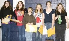"<div class=""source""></div><div class=""image-desc"">Grant County Middle School students participated in a science fair, conducting experiments, forming hypothesis and drawing conclusions. Science Fair winners pictured are: Sarah and Bethany Vance, first place, animal science; Josh Hemingway, third place, physics; McKayla Parsons, second place, physics; Madisyn Ruebusch, (not pictured: Tiana Thornberry) second place, animal science and Zena Smith, third place, animal science. Not pictured, first place, physics, Nolan Calhoun.</div><div class=""buy-pic""><a href=""/photo_select/9093"">Buy this photo</a></div>"