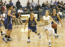 "<div class=""source"">Matt Birkholtz</div><div class=""image-desc"">Eighth grade guard Hannah Kitchens races to the basket against Gallatin County Jan. 6. Kitchens had six points in the game.</div><div class=""buy-pic""><a href=""/photo_select/8819"">Buy this photo</a></div>"
