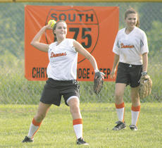 """<div class=""""source"""">Matt Birkholtz</div><div class=""""image-desc"""">Lady Demons center fielder Lisa Garrant throws the ball back in after making a catch against Carroll County May 11.</div><div class=""""buy-pic""""><a href=""""/photo_select/10494"""">Buy this photo</a></div>"""