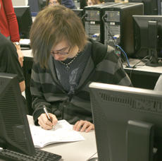 """<div class=""""source"""">Matt Birkholtz</div><div class=""""image-desc"""">Maverick Facer is practicing isometric drawings in a intro to engineering class.</div><div class=""""buy-pic""""><a href=""""/photo_select/13196"""">Buy this photo</a></div>"""
