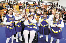 """<div class=""""source"""">Beverly Bass</div><div class=""""image-desc"""">The Grant County Panthers took home silver medals after placing second at the state cheerleading competition on Feb. 28.The squad is made up of Amanda Bass, Christina Pergram, Kortni Scarritt, Amber Roberts, Danielle Pergram, Marianne Snowden and Katelyn </div><div class=""""buy-pic""""><a href=""""/photo_select/2848"""">Buy this photo</a></div>"""
