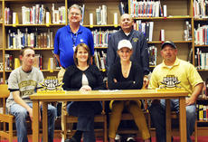 "<div class=""source""></div><div class=""image-desc"">FAIR WAY, FAIR PLAY - Sarah Kellam, the daughter of Tim and Jamie Kellam, has signed to play golf with the Northern Kentucky University Lady Norse golf team next year. Kellam, a senior at Grant County High School, has been golfing since she was young . NKU Coach Darryl Landrum has known her for many years because she has been a member of Eagle Creek Country Club. ""She's just a good, solid ball striker and an intelligent golfer on the course. I think she'll bring leadership and the ability to shoot low scores to help the team,"" Landrum said. Landrum, NKU's coach for 17 years said he's excited about NKU's move to a Dvision 1 school. ""We've got seven freshmen coming in and by going to DI this year, I think it'll make the kids play better because we'll be facing better opponents at better facilities. We're going to be an upscale golf team,"" Landrum said. Pictured are Cody, Jamie, Sarah and Tim Kellam; Steve Thompson, Grant County's Athletic Director and Marcus Camacho, Sarah's golf coach at GCHS. ""As Sarah moves to the next level, her game will continue to improve and so will her ability to cope when things go wrong,"" said Camacho. Photo by Camille McClanahan</div><div class=""buy-pic""><a href=""/photo_select/16382"">Buy this photo</a></div>"