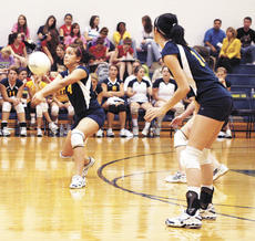 """<div class=""""source""""></div><div class=""""image-desc"""">GCHS junior Katie Gregg returns a Gallatin County serve, while Dawn Plunkett watches. Gregg and Plunkett will be counted on next year, according to coach Kelli Lee.</div><div class=""""buy-pic""""><a href=""""http://web2.lcni5.com/cgi-bin/c2newbuyphoto.cgi?pub=195&orig=Volleyball2.jpg"""" target=""""_new"""">Buy this photo</a></div>"""