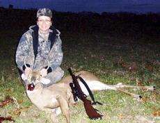 """<div class=""""source""""></div><div class=""""image-desc"""">Bonnie Murphy of Williamstown killed a buck recently at 161 yards per range finder shooting uphill. Photo submitted </div><div class=""""buy-pic""""><a href=""""/photo_select/19352"""">Buy this photo</a></div>"""