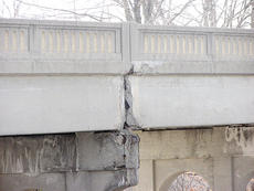 "<div class=""source"">Bryan Marshall</div><div class=""image-desc"">Cracks are noticeable underneath the U.S. 25 bridge in Williamstown, which will close March 1 amid safety concerns.</div><div class=""buy-pic""><a href=""/photo_select/9252"">Buy this photo</a></div>"