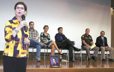 """<div class=""""source""""></div><div class=""""image-desc"""">Charlotte Wethington, a parent and recovery advocate, spoke about her son, Casey, and his fatal encounter with heroin. Wethington was one of six panelists at a town hall meeting on Sept. 26 at GCHS that dealt with heroin in Grant County. Photos by Jamie Baker-Nantz.</div><div class=""""buy-pic""""><a href=""""/photo_select/19007"""">Buy this photo</a></div>"""