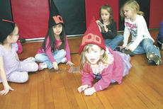 """<div class=""""source"""">Jamie Baker-Nantz</div><div class=""""image-desc"""">From left, DRE students Leilani Harper, Brizeida Aguazul, Madison Cayton, Summer Smith and Addy Bohms, wear 100th day hats while participating in Penny Wars for the Grant County Relay For Life. </div><div class=""""buy-pic""""><a href=""""/photo_select/13360"""">Buy this photo</a></div>"""