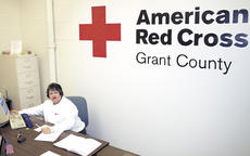 "<div class=""source"">Jamie Baker-Nantz</div><div class=""image-desc"">Diana Morgan serves as the Grant County unit leader for the Red Cross. The organization, which assists families in times of disaster, has found at home at the Grant County Courthouse.</div><div class=""buy-pic""><a href=""/photo_select/9539"">Buy this photo</a></div>"
