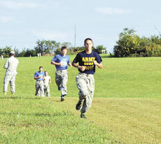 """<div class=""""source""""></div><div class=""""image-desc""""> Austin Haubner runs to beat the other cadets at the Senior ROTC Raider Challenge on Sept. 28. The """"Dog Soldiers"""" will compete next in West Virginia on Oct. 12. </div><div class=""""buy-pic""""><a href=""""/photo_select/18988"""">Buy this photo</a></div>"""