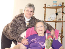 """<div class=""""source""""></div><div class=""""image-desc"""">My Special Valentine is my mom, June Griffin.  She has always been there for me, but recently I thought I might lose her.  She had open heart surgery on Oct. 28 and was in the hospital for several weeks. For the week following her surgery, she was kept in a medically induced coma for an irregular heartbeat.  During that time, she was shocked 8 times to try to get her in a normal heart rhythm. She also had a stroke at some point during that week. She slowly started to come out of it, but couldn't do anything for herself.  She was finally discharged to a nursing home for rehab. One week later, she was back in the hospital with blood clots in her lungs. So, she was back in intensive care for another stay. She was constantly on a roller coaster ride with the doctors trying to regulate her medications.  Finally, she was well enough to go back to the nursing home to finish her rehab. Thankfully, after several weeks there, her devout faith in God and many, many people praying for her, she was able to come home on Jan. 31.  She had been gone from her home for three long months. She tires easily, but at 85, she is still a go getter and a """"tough old bird"""". I know she is anxious to start her quilting again and her grandchildren can't wait for her to make them snickerdoodles.  I am especially thankful to still have her here and I can talk to her everyday. She is my very Special Valentine. </div><div class=""""buy-pic""""><a href=""""/photo_select/19832"""">Buy this photo</a></div>"""