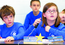 "<div class=""source""></div><div class=""image-desc"">Maddie Dalzell has an ""aha"" moment as she prepares to answer a question while Joey Saylor watches. Dalzell and Saylor are members of the Mason-Corinth Elementary quick recall team.</div><div class=""buy-pic""><a href=""/photo_select/6077"">Buy this photo</a></div>"