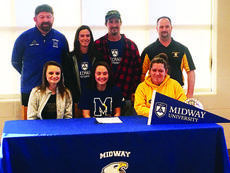 """<div class=""""source""""></div><div class=""""image-desc"""">Athlete: Kayla Mullins Sport: Soccer  Number of years playing sport: 15 ½ years Parents: Michelle and Jason Artrip School committed to: Midway University  Reason for selecting and signing with this school: Coach Sherrill Smith has high expectations for his players, morally and on an athletic aspect. The community around Midway seems very nice and one I can see myself living in.    Highlights/accomplishments/awards from your high school years: Winning the local Toyota Cup with my soccer team senior year; making history going to second round regions freshman year and getting the AP U.S. History award in my senior year.  What are you going to miss about your playing time in high school: My teammates, coaches and family I have formed. I will miss having the support system I do now.  What are your expectations playing at a collegiate level: I am excited to see the different styles of play on and off the field. I expect to create a family with my teammates and community, just like I did in my high school play. I also expect to be apart of a hardworking team. Future plans: I want to either go to school to become a physical therapist or a physician's assistant in sports medicine.  </div><div class=""""buy-pic""""></div>"""