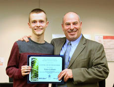 """<div class=""""source""""></div><div class=""""image-desc"""">GRANT COUNTY HIGH SCHOOL - Grant County Superintendent Ron Livingood congratulates Nolan Calhoun on being selected to attend the Gatton Academy at WKU this fall.</div><div class=""""buy-pic""""><a href=""""/photo_select/20348"""">Buy this photo</a></div>"""
