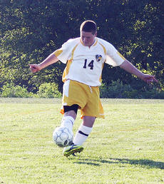 """<div class=""""source""""></div><div class=""""image-desc"""">Aaron Chapman moves the ball against Villa Madonna on Aug. 23, as the GCHS Braves junior varsity soccer team defeated Villa 1-0. Photo submitted by Janet Chapman.</div><div class=""""buy-pic""""><a href=""""/photo_select/15620"""">Buy this photo</a></div>"""