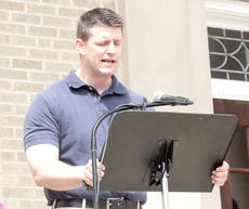 "<div class=""source""></div><div class=""image-desc"">Barry Robinson, pastor of the Williamstown United Metodist Church along with several ministers from across the county and members of the community gathered at the courthouse to pray on the National Day of Prayer on May 2. </div><div class=""buy-pic""><a href=""/photo_select/17721"">Buy this photo</a></div>"