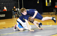 """<div class=""""source""""></div><div class=""""image-desc"""">Grant County Middle School students, Thomas Gripshover and Jared Barnes show wrestling moves. Grant County Braves will be beginning a youth wrestling team. For more information, visit the Facebook page at Braves Youth Wrestling. </div><div class=""""buy-pic""""><a href=""""/photo_select/20499"""">Buy this photo</a></div>"""