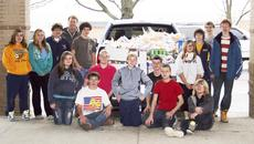 """<div class=""""source""""></div><div class=""""image-desc"""">GCMS has 'food fight' to feed families during holiday season - The Grant County Middle School Student Council collaborating with Edwardo's sponsored a """"food fight"""" to help feed families during the holiday season. The """"food fight"""" competition promoted donating can/box food items and grade level homeroom winners earned a pizza party. When all the food items were collected and counted the total donation equaled 3,027 can/box foods.  """"I am always so proud of our students! When there is a need, they always step up! Caring about others is an important life skill. Our students not only need to know that they are cared for, but they also need to understand how to care for others. And this activity proves that they do,"""" said Barb Jones, GCMS Student Council sponsor.  Grade level winners were:  Sixth grade – Karen Allie/148 food items  Seventh grade – Alyson Kremer/563 food items  Eighth grade – Barb Jones/250 food items  </div><div class=""""buy-pic""""><a href=""""/photo_select/19514"""">Buy this photo</a></div>"""