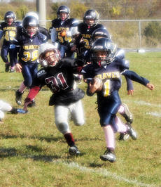 "<div class=""source"">Picasa</div><div class=""image-desc"">Bradley Wooten of the Midgets team runs for the goal line with Owen County Rebel players right behind him.   Photos by Rebecca Hall </div><div class=""buy-pic""><a href=""/photo_select/19198"">Buy this photo</a></div>"