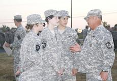"<div class=""source""></div><div class=""image-desc"">Sgt. Maj. (Ret.) Charles Duffee gives GCHS cadets, Alexis Pierce, left, Haley Post, center, and Shelby Courtney, some last minute instructions before they sing the national anthem for opening ceremonies at the Raider and Drill Challenge Sept. 18.</div><div class=""buy-pic""><a href=""/photo_select/823"">Buy this photo</a></div>"