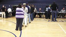 """<div class=""""source""""></div><div class=""""image-desc"""">Voting moved fairly quickly on Election Day in Grant County. Precinct workers reported being busy in the early morning and late afternoon, but mostly having a steady stream of voters throughout the day. Here a line forms at Grant County Middle School. Photo by Jamie Baker-Nantz</div><div class=""""buy-pic""""><a href=""""http://web2.lcni5.com/cgi-bin/c2newbuyphoto.cgi?pub=195&orig=voting.jpg"""" target=""""_new"""">Buy this photo</a></div>"""