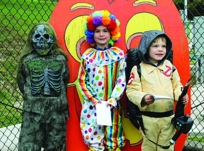 3 - 6 YEAR OLDS  - Joey France, Swamp Skeleton - Spookiest; Brody Simpson, Clown - Most Original and Hunter Mynhier, Ghostbuster - Judge's Choice.