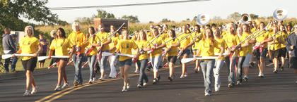 The Grant County High School Marching Band makes its way to the high school during the 2011 Homecoming Parade on Sept. 15.