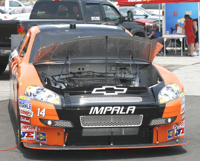 A replica of Eric McClure's car sits outside the Dry Ridge Wal-Mart.