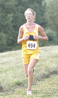 Kaitlyn Howard runs in the 38th annual Grant County Invitational.