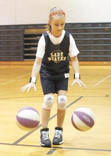 Kiley Marsh shows off her dribbling skills.