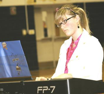 Cassidy Lacey won first place instrumental.