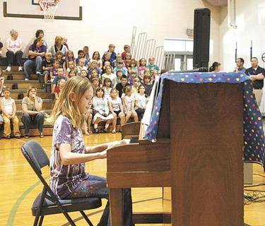 Lillyrose Conley demonstrated her talent on the piano.