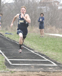 Davis gets into a full out sprint at GCHS.