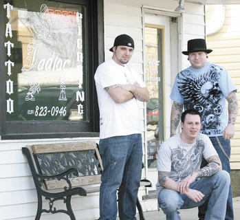 Maines, Wilson and owner Anness are tattoo artists at Jadloc Tattoo Studio in Dry Ridge.