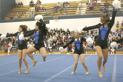The Williamstown Dance 360 team won first place in the small pom division.