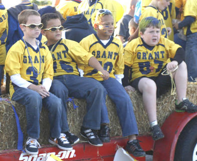 Members of the Grant County Youth Football team are ready for the big game.