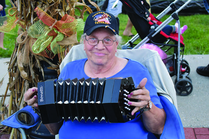 Georgia Dahlberg plays the accordian at the Williamstown Fall Fest held on Oct. 20.