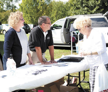Bob and Lila McDaniel, of McDaniel Funeral Home, had a booth at the 2012 Senior Bash. Local businesses were invited to come and set up to hand out goodies to the elderly.  Photos by Jamie Baker-Nantz