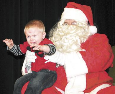 Christopher Gilton, 1, definitely didn't enjoy his visit with Santa on Dec. 3. Gilton is the great nephew of Mellina Black and was visiting for the weekend.