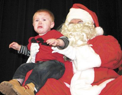 Christopher Gilton, 1, definitely didnt enjoy his visit with Santa on Dec. 3. Gilton is the great nephew of Mellina Black and was visiting for the weekend.